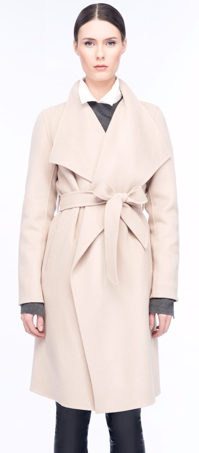 White wrap coat by Line the Label