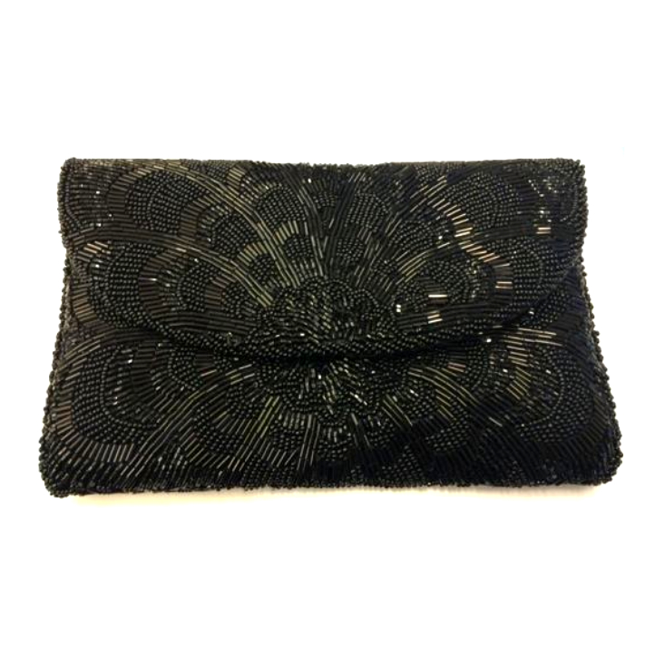 Kate Middleton's Black Beaded Magid Clutch Bag