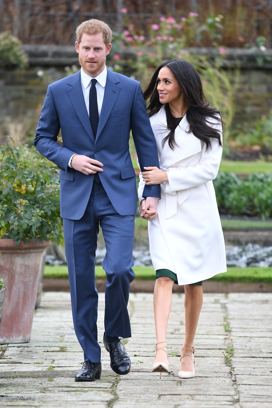 Meghan Markle's engagement annoucement outfit