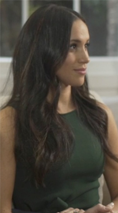 Meghan Markle's green dress during the engagement interview