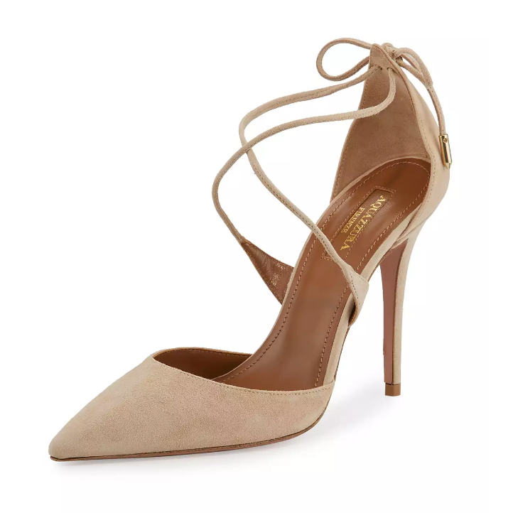 Meghan Markle's Aquazzura heels at the engagement photocall