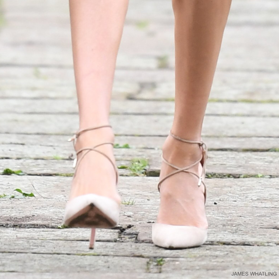 Meghan Markle's Aquazzura heels at the engagement photocall