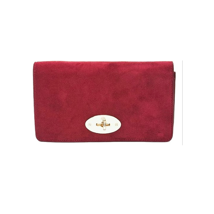 Mulberry Bayswater Clutch in Conker Suede