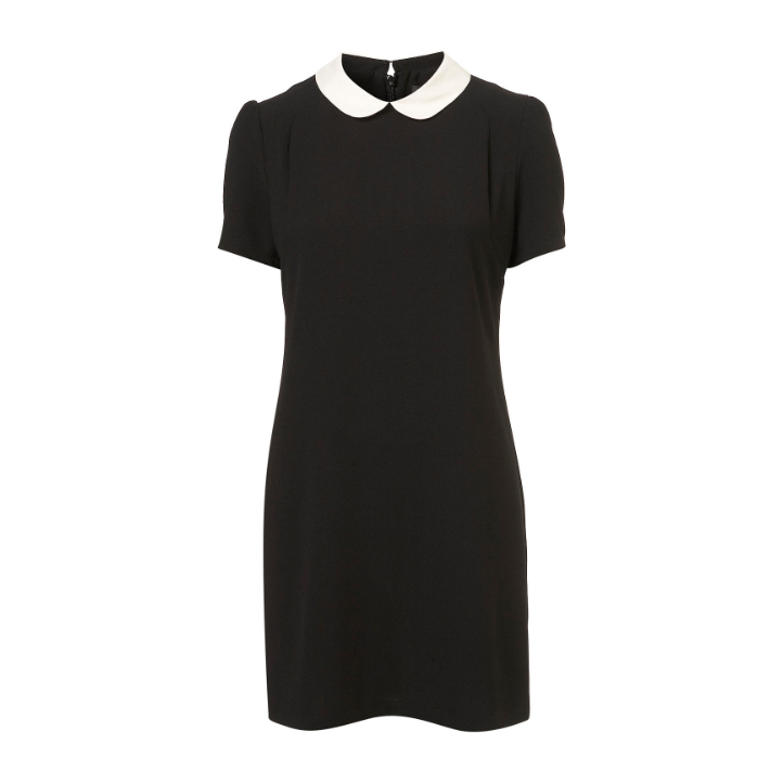Topshop Contast Collar Shift Dress