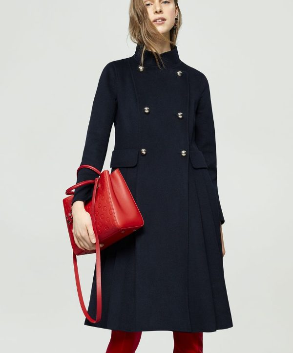 Kate Middleton's Navy Blue CH Carolina Herrera Coat
