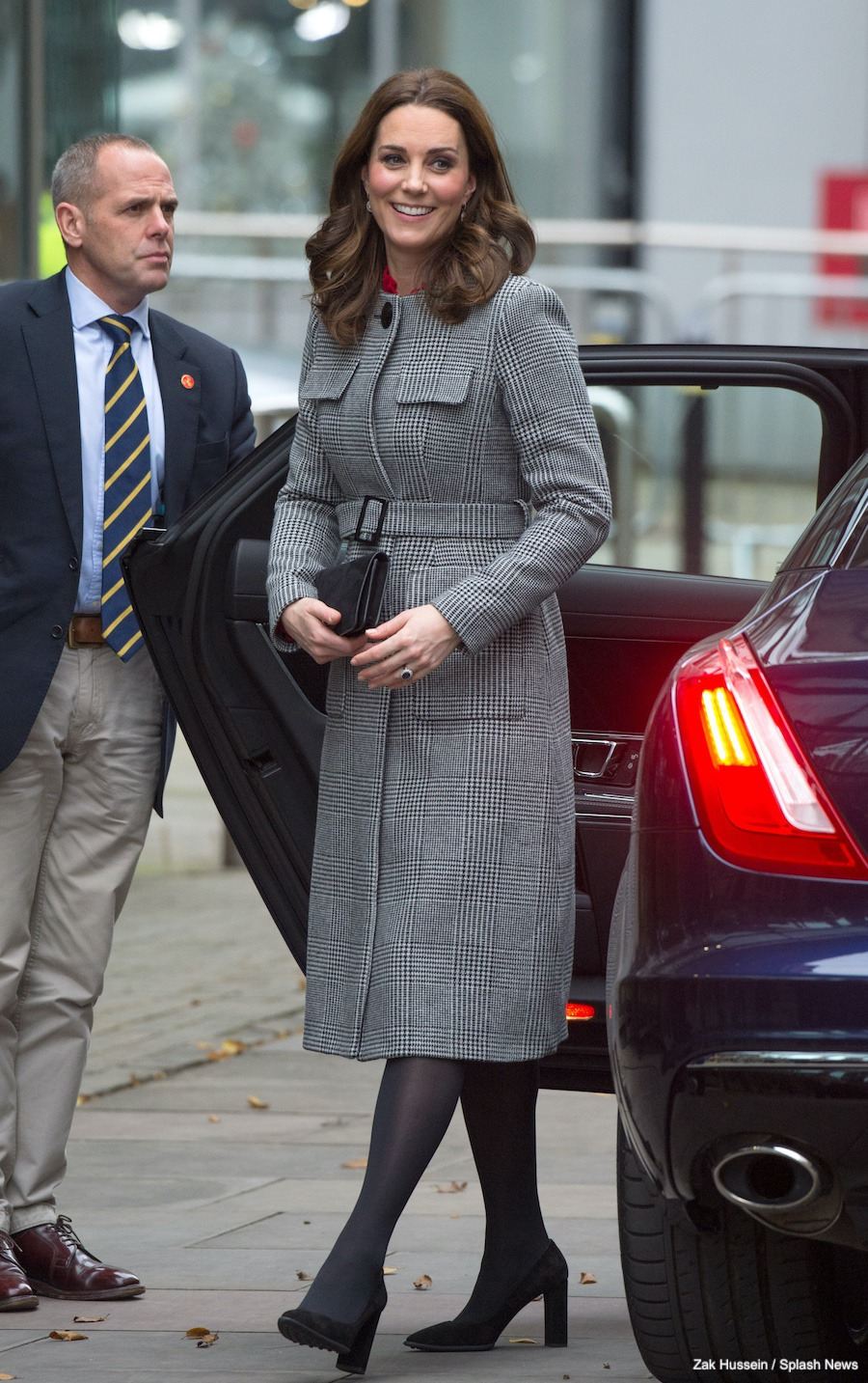 Kate Middleton visits Manchester wearing an L.K. Bennett Coat
