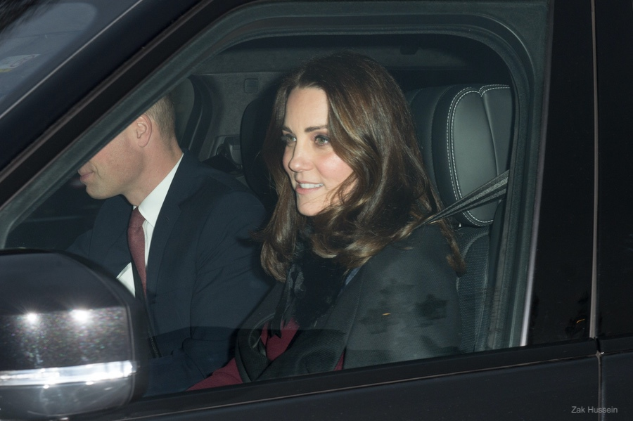 Kate Middleton at the Queen's pre-Christmas Luncheon at Buckingham Palace in 2017