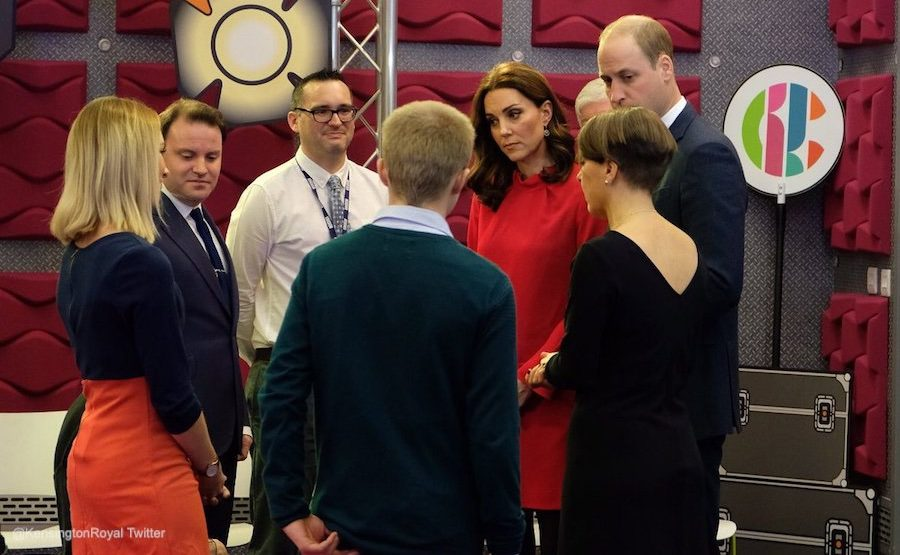 Kate Middleton visiting Media City in Manchester