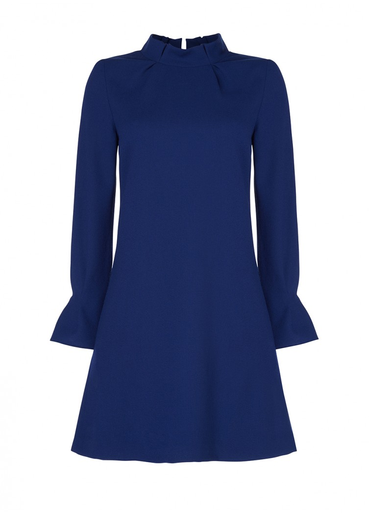 Goat Elodie Tunic Dress in Blue