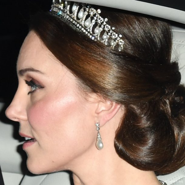 Kate Middleton tiara at the Diplomatic Reception in 2017