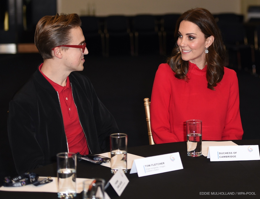 Kate Middleton with McFLY's Tom Fletcher