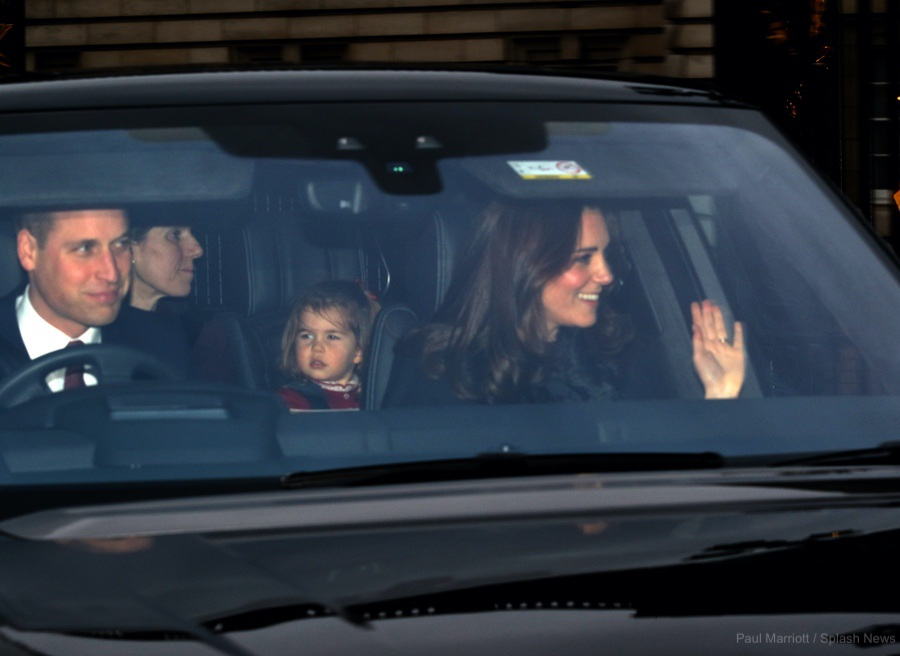 Kate Middleton at the Queen's pre-christmas luncheon at Buckingham Palace