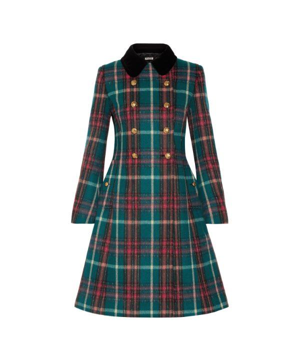 Miu Miu Tartan Coat