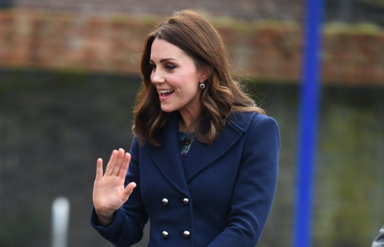 Kate in Hobbs London & Seraphine Maternity for visit to Place2Be at Reach Academy Feltham