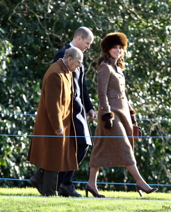 Kate in Moloh for Sunday morning service at St. Mary Magdalene Church, Sandringham