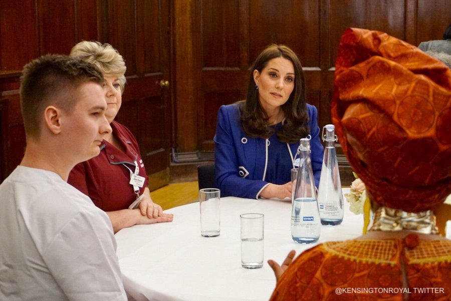Kate Middleton visits St. Thomas' Hospital in London to launch the Nursing Now Campaign