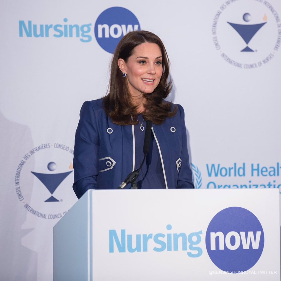 Kate giving a speech to launch the nursing now campaign