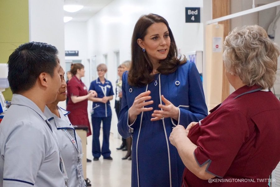 Kate Middleton at St. Thomas' Hospital in London