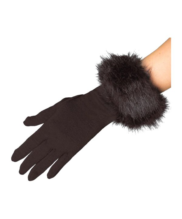 Cornelia James Clementine gloves with faux fur trim