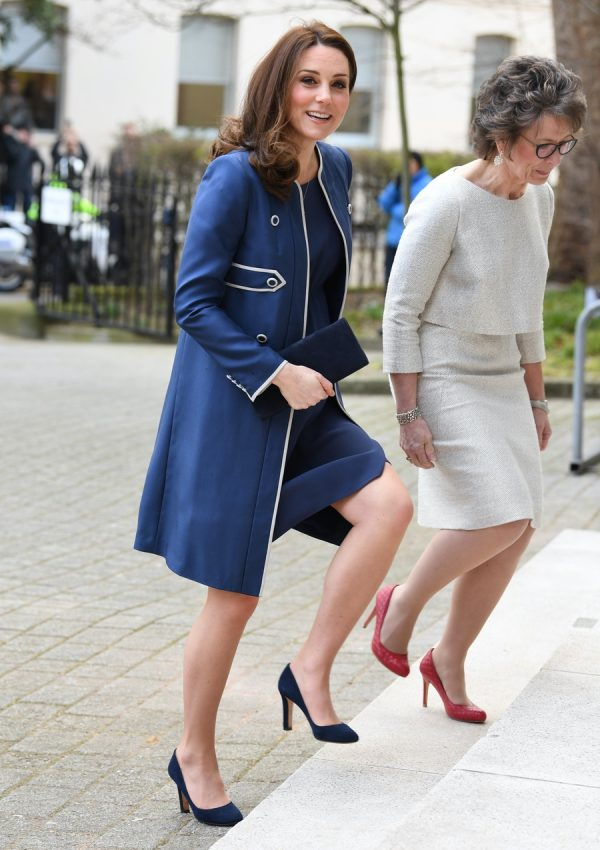 Kate Middleton visits the Royal College of Obstetricians and Gynaecologists in London