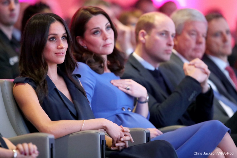 Meghan Markle and Kate Middleton the Duchess of Cambridge at the Forum