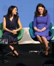 Kate Middleton and Meghan Markle at the Royal Foundation Forum today