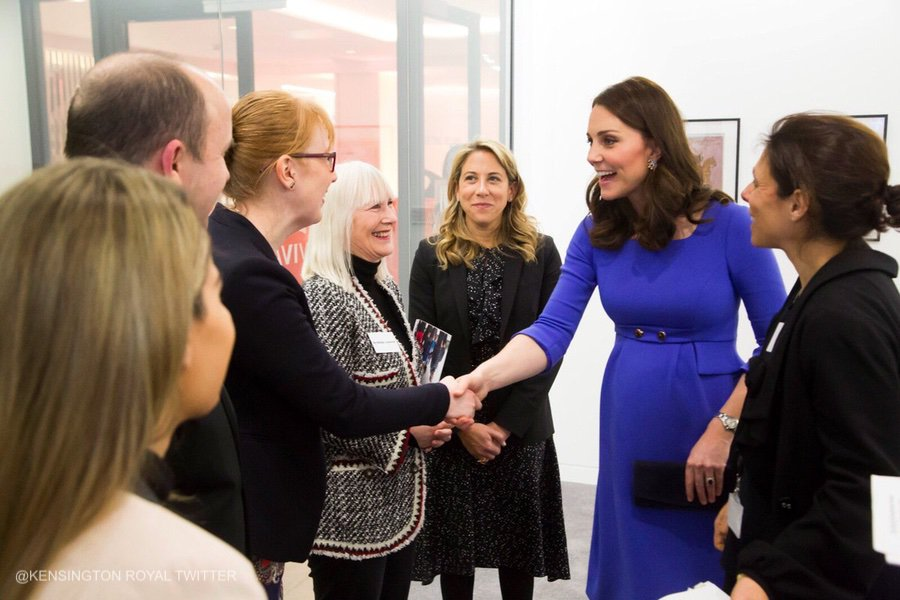 Kates blue dress from the Royal Foundation Forum