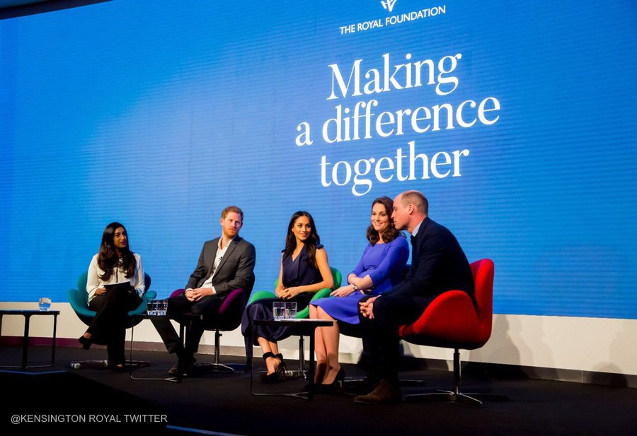 William, Kate, Harry and Meghan at the Royal Foundation Forum