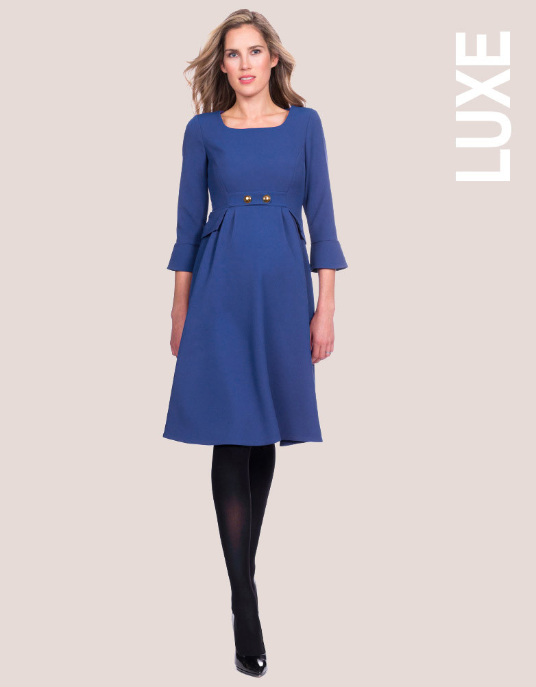 Seraphine Royal Blue Maternity Dress