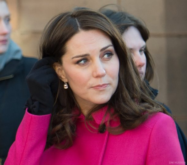 Kate Middleton wearing Cornelia James Beatrice Gloves in Coventry