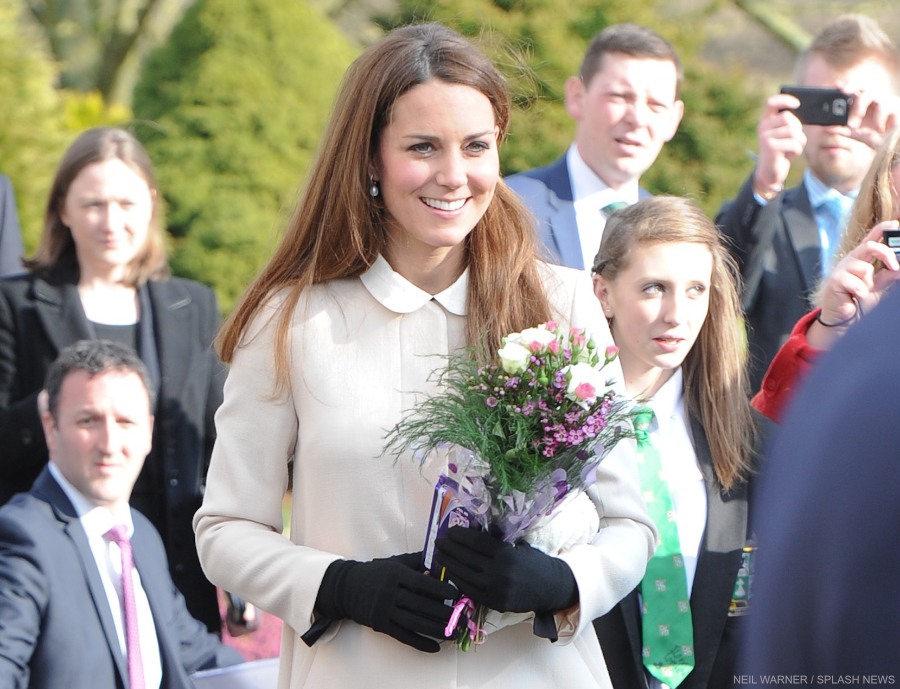 Kate Middleton wearing the Cornelia James Imogen gloves with bow detail