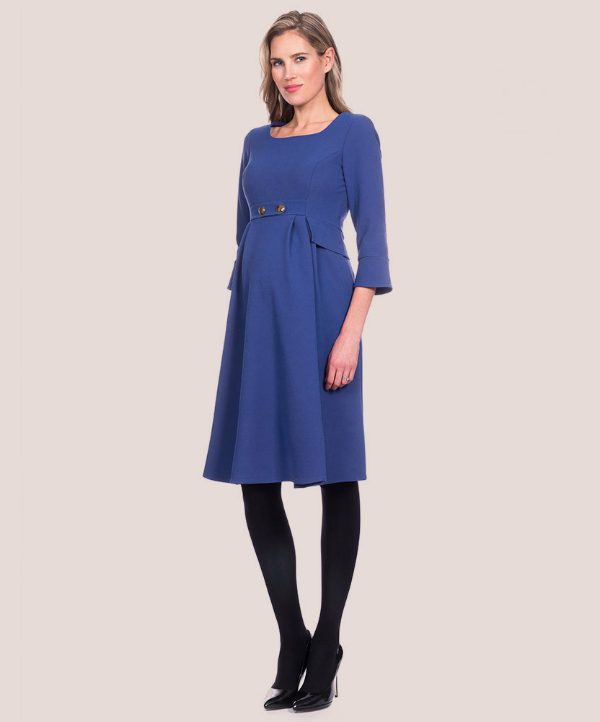 Seraphine Maternity Royal Blue Tailored Maternity Dress