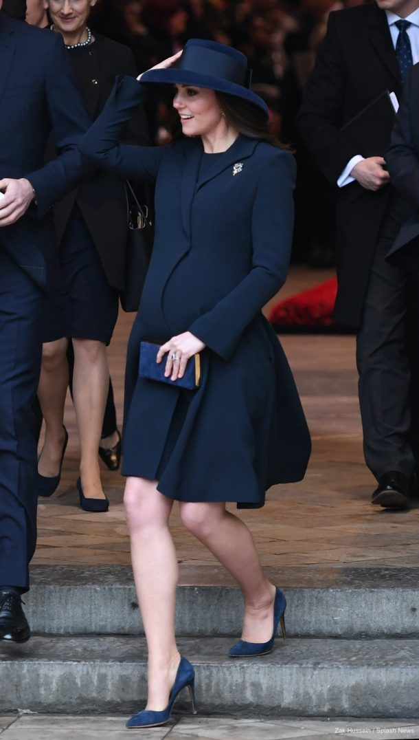 Kate Middleton wearing a Beulah London blue coat