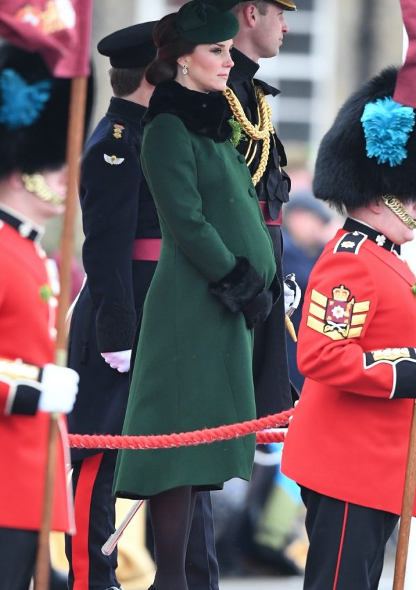 Kate looks festive in green for St. Patrick's Day with the Irish Guards
