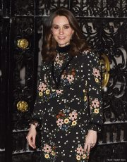 Duchess of Cambridge (Kate Middleton) visiting the National Portrait Gallery wearing an Orla Kiely dress