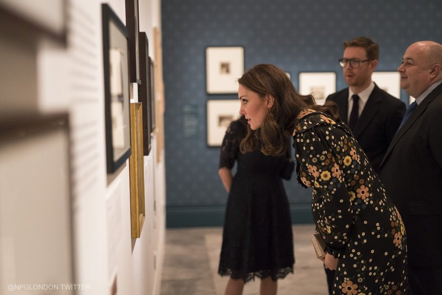 Duchess of Cambridge (Kate Middleton) visiting the National Portrait Gallery