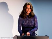 "Kate Middleton visits Place2Be headquarters. She wore the Seraphine Maternity ""Marlene"" blue lace dress for the event"
