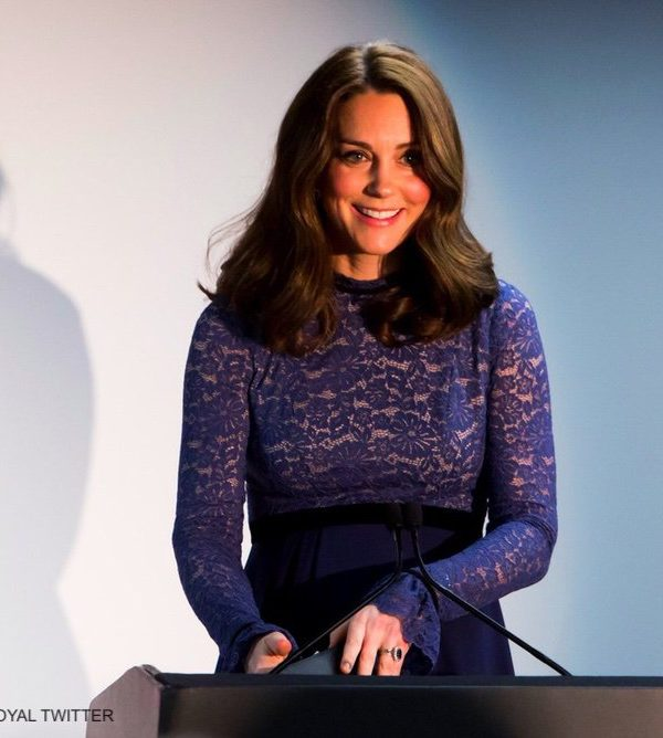 Kate opens Place2Be HQ in Seraphine maternity dress