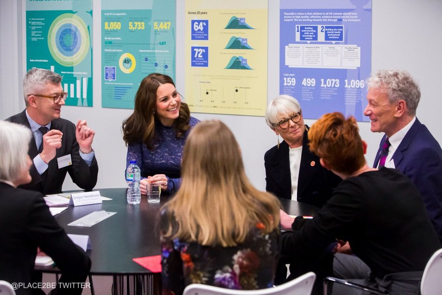 Kate Middleton visits Place2Be headquarters