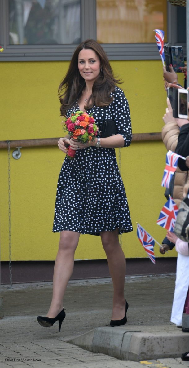 Kate Middleton wearing the Stuart Weitzman Power Pumps