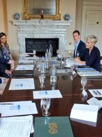 Kate talks tennis & meets with School Standards Minister