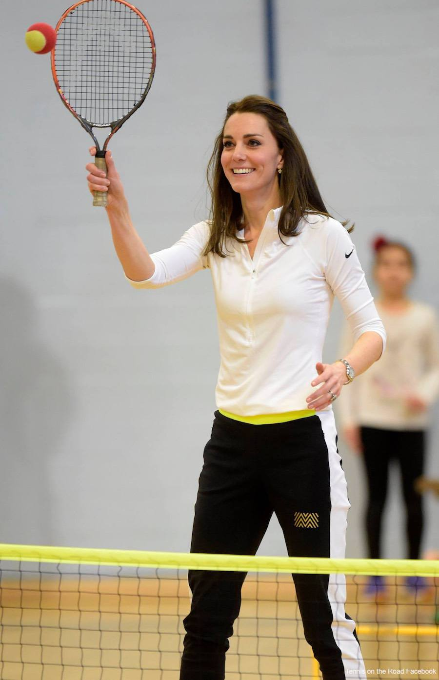 Kate Middleton at a tennis workshop