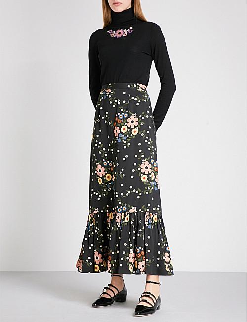 L'Orla floral print skirt