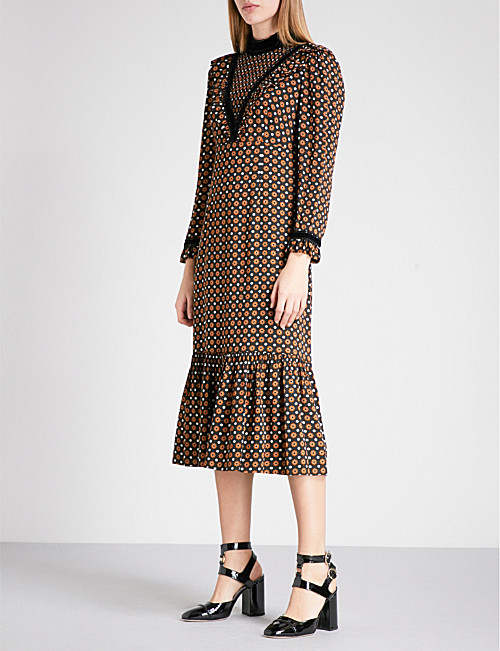 L'Orla Margaret dress in spotty retro print
