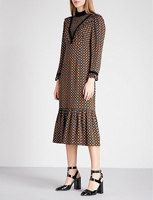 L'Orla Margaret dress in spotty retro print