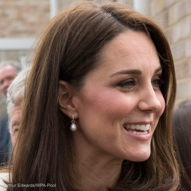 Kate Middleton pearl earrings by Annoushka