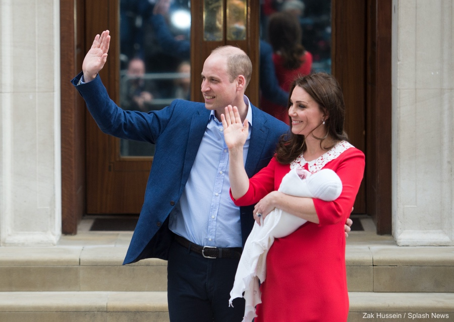 William, Kate and their newborn baby boy at the Lindo Wing