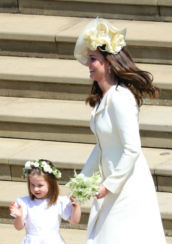 Kate's in Alexander McQueen for Meghan and Harry's wedding