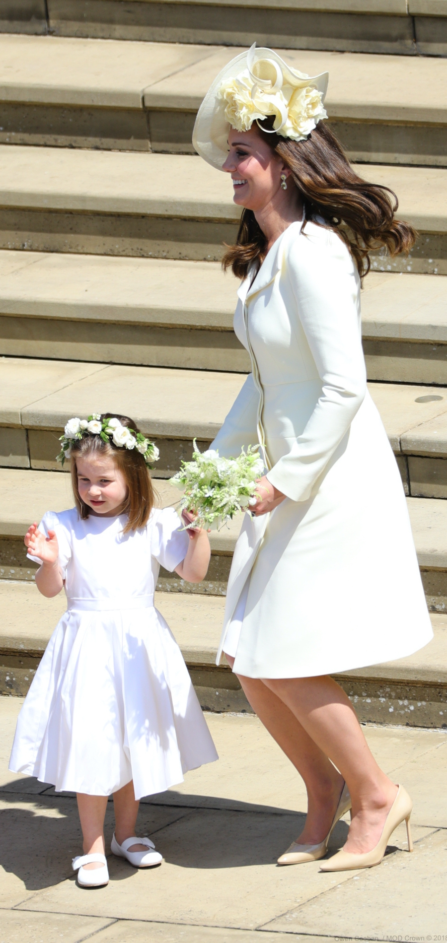 Kate Middleton and Princess Charlotte during the Royal Wedding