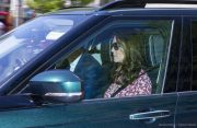Kate Middleton driving to the wedding rehearsal in Windsor